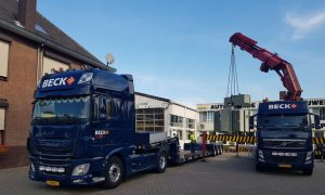 crane and low loader Beck Logistics